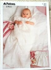 Patons 2ply Knitting Pattern 5347  Babies Shawl Blanket One Size