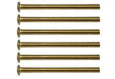Brass Effect 50mm Long Electrical Socket Box Screws M3.5 / 3.5mm Thread (6 Pack)