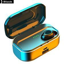 Bluetooth 5.0 Headset TWS Wireless Waterproof Sports Single Ear Earphone Black