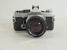 Olympus OM-2n MD SLR 35mm Film Camera W/50mm 1:1.4 Lens & Case