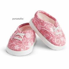 American Girl Truly Me~Pink Lace Print Shoes~Sneakers~Mix & Match~Berry Fresh