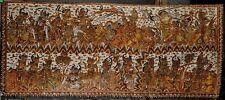 Fine Old Balinese Indonesia Kamasan Village area painted Ramayana Textile 20th c