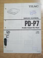 TEAC Service Manual for the PD-P7 CD Player   mp