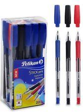 PELIKAN 20 STICK PRO BALL POINT PEN ERGONOMIC GRIP 14 BLUE 3 BLACK 3 RED INK