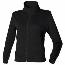 Sweatshirt Zip Neck Regular Plain Hoodies & Sweats for Women
