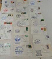 20 Schiffsstempel Maritime Stempel Postkarten Briefe Schiffspost K-1978