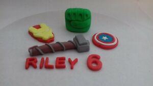 Marvel  Heroes Themed Handmade Edible Personalised Cake Topper