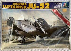 Italeri 1/72 Lufthansa Junkers Ju52  No.150. Never opened - sealed box.