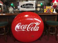 "Mid Century Coca Cola COKE Porcelain 48"" Vintage Advertising Sign ""Watch Video"""