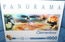 PANORAMA WILDLIFE LION ELEFANT COLLECTION Puzzle jigsaw 1000 pcs CLEMENTONI NEW