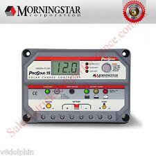 Morningstar PROSTAR 15a 12v/24v Solar Panel Regulator Charge Controller W/meter