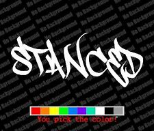Stanced Decal Vinyl Graphic JDM Sticker Vinyl Cut Slammed Lowered