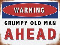Enseigne Avertissement Grumpy Old Man signe de métal (og 4030)
