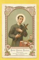 IMAGE PIEUSE HOLY CARD  SAINTGERARD DE MAJELLA 1904 CANNONISATION