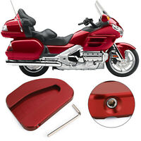 Kickstand Sidestand Extension Plate Pad For Honda GoldWing GL1800 2010-17 Red T5