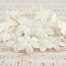 White Mulberry Paper Blooms Card Making Craft Embellishment Flowers Pbw004