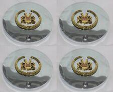 """SET OF 4 VOGUE TYRE GOLD LOGO 991-0225 899068 WHEEL RIM CHROME CENTER CAP 6-3/8"""""""