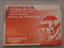 HONDA XL600V TRANSALP 1991 OWNERS MANUAL DEL PROPIETARIO INSTRUCTIEBOEK