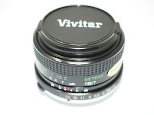 Vivitar 28mm f2.8 Wide Angle Lens for Olympus OM Cameras