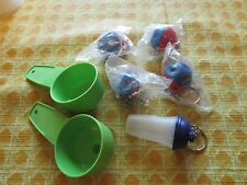 Tupperware lot of 7 keychains gadgets