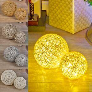 2 Pcs LED Light Up Christmas Balls Glitter Ornament Warm Fairy Lights Home Decor