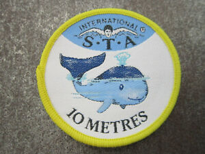 10 Metres Distance Award Swimming Sport Woven Cloth Patch Badge (L40S)