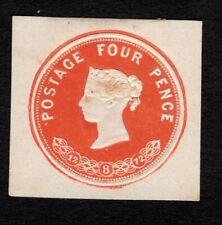 Great Britain 1872 Queen Victoria mint 4p orange postal stationary Cut Square