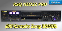 NEW RSQ Neo 22 Pro Karaoke Player Digital USB MP3G Karaoke Machine CDG Recording