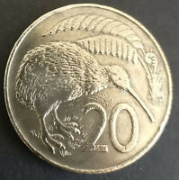 1967 New Zealand 20c. Twenty cent coin. First year of decimal. Free post Aust.