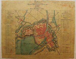 Verdun plan ancien militaire XIXe sur calque Meuse_ _ _ _ _ _