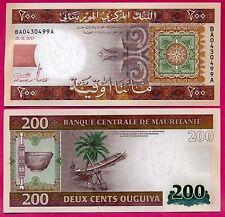 Mauritanie ( P#17 ) billet de banque 200 ouguiya ~ neuf ~ 2013 .