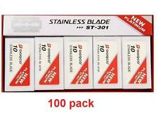Dorco ST-301 Platinum Stainless Double Edge Razor Blades - Red Pack - 100 Blades