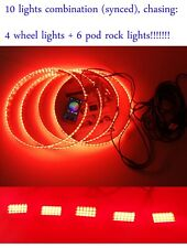 10Lights (4 Wheel Ring +6 Rock Lights) Colorshift Chasing Smart Phone Controlled