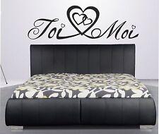Beau stickers couple amour toi moi amoureux tête de lit chambre couple adulte