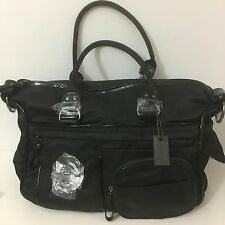 Mimco LUCID Weekender TURNLOCK Baby Travel Shopper Hand Bag Black Gunmetal
