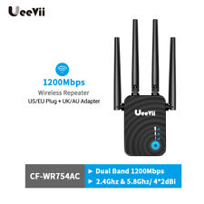Ueevii WLAN Repeater 1200Mbps Wireless N Router Wi-Fi Range Extender Booster