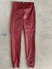 ZARA RED PU LEATHER TROUSERS SIZE XS
