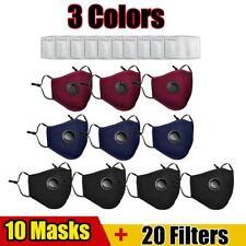 Wiederverwendbar Atemschutz Gesichtsmaske Mundschutz Staub Waschbar + 20 Filters