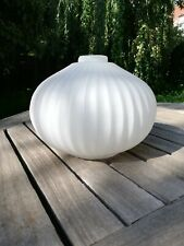 Vintage 50's - 70's Scandinavian opaque milk-white glass lamp shade for ceiling