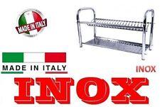 SCOLAPIATTI COLAPIATTI ACCIAIO INOX APPOGGIO MURO CM 60 MADE IN ITALY 200944
