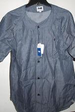 PHM SAINTS PERES Striped Short Sleeve Baseball Shirt Large