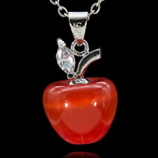 Women Fashion Opal Red Apple Shape Pendant for Necklace Earring Decor Convenient