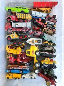 MATCHBOX, HUSKY, CORGI, DINKY DIECAST CAR & TRUCK COLLECTION PLAYWORN JOB LOT