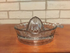 Clear ORANGE JUICE EXTRACTOR Depression Glass REAMER Kitchenware Juicer