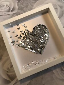 Handmade Silver 3d butterfly picture