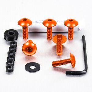 Screws Kit Fairing Aluminum Ducati Monster S2R800 05-07 Orange