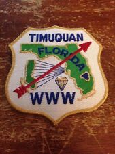 Timuquan Lodge 50th Anniversary Jacket Back Patch Order of the Arrow 1996 T-120