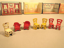 Marx Newlywed 1920's tin Lot Of Antique Doll House Furniture  5 rooms! 20 pieces