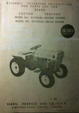 Sears Custom 6 600 Garden Tractor & Implements Owner & Parts Manual 56p (6 books