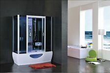 DESIGNER Whirlpool Bath Steam Shower Enclosure Combination Cubicle Tub Jets Taps 1500 X 850 St5055